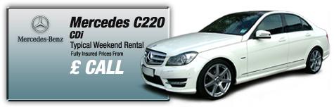 Castle Cars Private Hire - Mercedes C220 CDi FOR HIRE