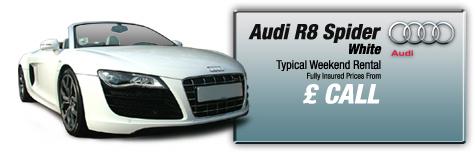 Castle Cars Private Hire - Audi R8 Spider FOR HIRE