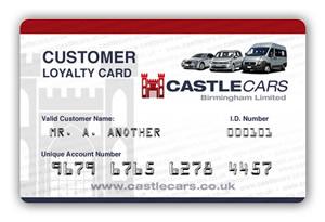 Castle Cars Loyalty Card